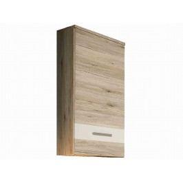 Forte VALERIE, závěsná skříňka VALH10, dub pískový/bílá plastová