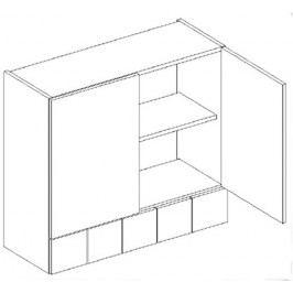 Kvalitní stolkar ALINA PATYNA, horní skříňka W80 S/5, ořech patyna DOPRODEJ wenge