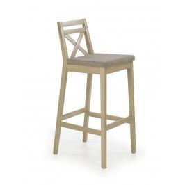 Halmar Barová židle vysoká BORYS, dub sonoma látková