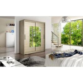 Smartshop Šatní skříň WESTA III, dub sonoma/zrcadlo lamino