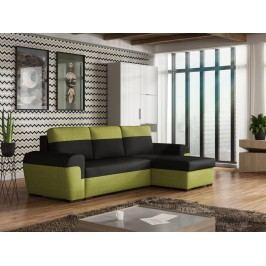 Univerzální smartshop Rohová sedačka FILO, černá látka/zelená látka