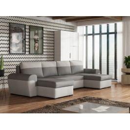 Rozkládací smartshop Rohová sedačka FILO U, šedá látka/světle šedá látka