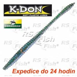 Cormoran® K-DON S4 Round Tail Worm - barva green blue shiner 150 mm - 51-33157