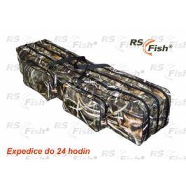 RS Fish® Pouzdro na pruty 3D Camo - 3 komory 130 cm