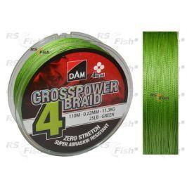 DAM® CrossPower 4-Braid - 110 m 0,10 mm