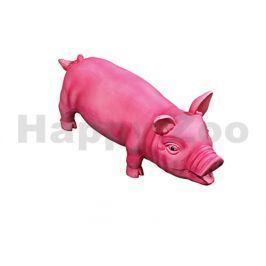 Hračka FLAMINGO latex - chrochtající prase růžové 33cm