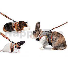 Nylonový postroj FLAMINGO síťovaný pro králíky 91-170,5cm