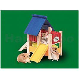 Hračka pro hlodavce FLAMINGO - dětské hřiště pro křečky 25x20x21
