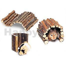 Domek FLAMINGO dřevěný flexibilní (L) 19x34cm