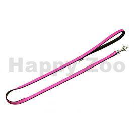 Vodítko FLAMINGO Art Leather Plus Paris růžové (M) 110x1,4cm