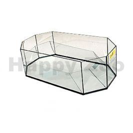 Želvárium TOMMI skleněné osmihranné (L) 60x30x20cm