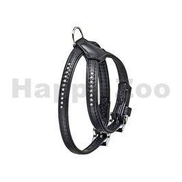 Postroj FLAMINGO Art Leather Plus Monte Carlo štrasový černý (XS