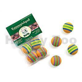 Hračka pro kočky Flamingo - pěnové duhové míčky 4cm (4ks)