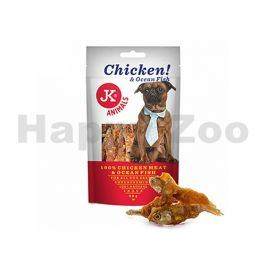 JK Dog Meat Snack - Chicken Meat and Ocean Fish 80g