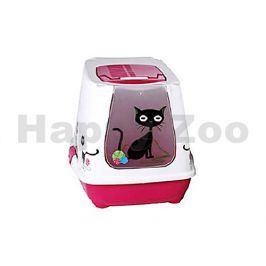 Toaleta RIGA Dekor kočka krytá 39x50x40cm (MIX BAREV) (DOPRODEJ)