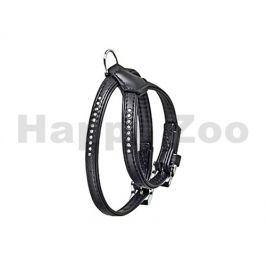 Postroj FLAMINGO Art Leather Plus Monte Carlo štrasový černý (S)