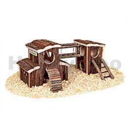 Hračka pro hlodavce FLAMINGO - hřiště Ole 45,5x17x20cm