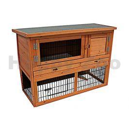 Dřevěná klec pro králíky FLAMINGO Loft 111x45x78cm
