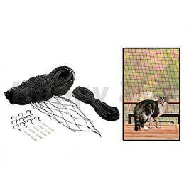 Ochranná síť pro kočky FLAMINGO černá 3x4m