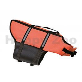 Plovací vesta FLAMINGO oranžová (M) 35cm (pro psy od 10kg do 25k