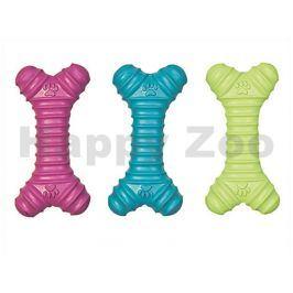 Hračka FLAMINGO guma - měkká kost s tlapkami 15,5x7x3cm (MIX BAR