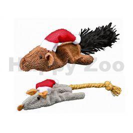 Vánoční hračka TRIXIE pro kočky - plyšová myš/veverka 14cm (MIX