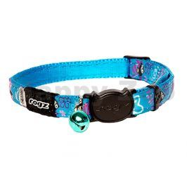 Obojek ROGZ Catz NeoCat CB 41 F-Turquoise Candystripes (S) 1,1x2
