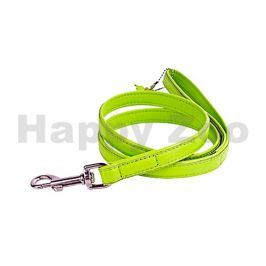 Vodítko COLLAR Glamour Soft kožené zelené 1,2x122cm (DOPRODEJ)