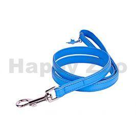 Vodítko COLLAR Glamour Soft kožené modré 1,8x122cm (DOPRODEJ)
