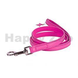 Vodítko COLLAR Glamour Soft kožené růžové 1,8x122cm (DOPRODEJ)