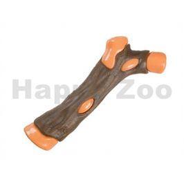 Hračka FLAMINGO nylon - větev s kuřecí kůží 17cm