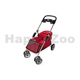 Kočárek pro psy FLAMINGO Buggy Red 89x37x87cm (do 15kg)