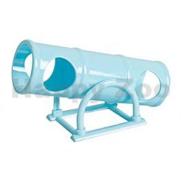 Hračka pro hlodavce FLAMINGO - plastový houpací tunel 16,5x4,5cm