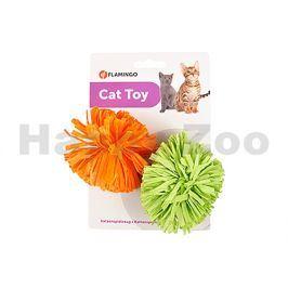 Hračka pro kočky FLAMINGO - střapatý míček 8cm