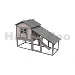 Dřevěná klec pro králíky FLAMINGO Quincy Cottage 151x66x100cm