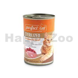 Konzerva PERFECT CAT Sterilised Chicken & Beef 400g
