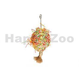 Hračka pro ptáky FLAMINGO - koule s papírem (XL) 37x50cm