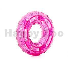 Hračka JK guma TPR - kruh růžový 12cm