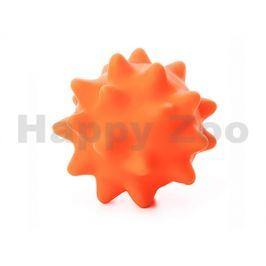 Hračka JK vinyl - míč s bodlinami oranžový 9cm