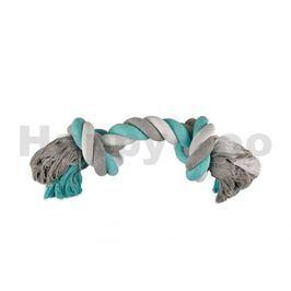 Hračka FLAMINGO bavlna - dvojuzel modrobílošedý (JUMBO)