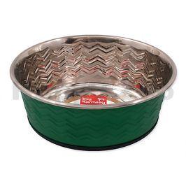 Nerezová miska DOG FANTASY tepaná kulatá zelená 1150ml