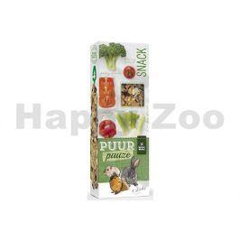 Tyčinky PUUR Pauze Snack - brokolice a rajče pro hlodavce 110g (