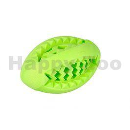 Hračka FLAMINGO guma - míč rugby mátový 13cm