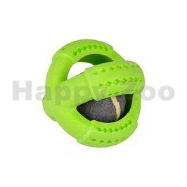 Hračka FLAMINGO guma - míč s míčem uvnitř mátový 11cm