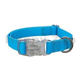 Obojek TRIXIE se svítící karabinou modrý (S-M) 2x30-45cm