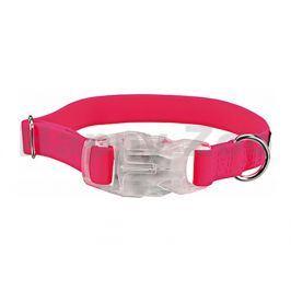 Obojek TRIXIE se svítící karabinou růžový (S-M) 2x30-45cm