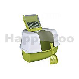 Toaleta TRIXIE Tadeo rohová krytá zelená 58x38x50cm