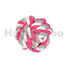 Hračka FLAMINGO bavlna - míč růžovobílošedý 5,5cm