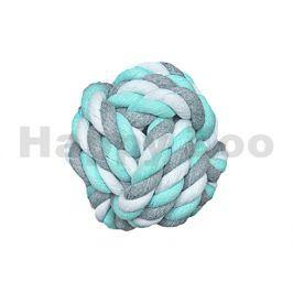 Hračka FLAMINGO bavlna - míč modrobílošedý 8,5cm