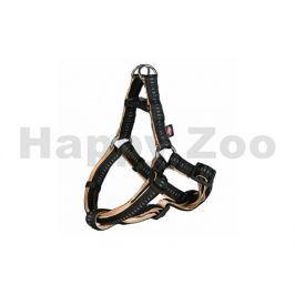 Postroj TRIXIE Softline Elegance černobéžový (L) 2,5x65-80cm